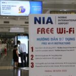Cách kết nối Wifi miễn phí – Sân bay Nội Bài
