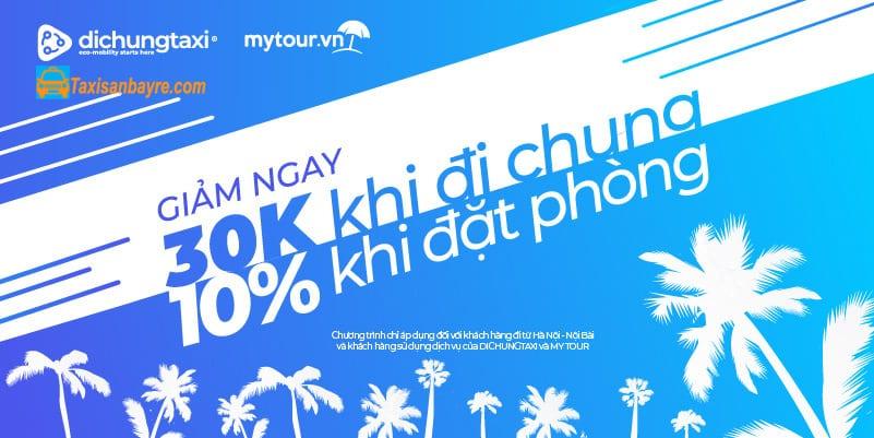 Mã giảm giá Mytour dành cho khách hàng Đi Chung Taxi