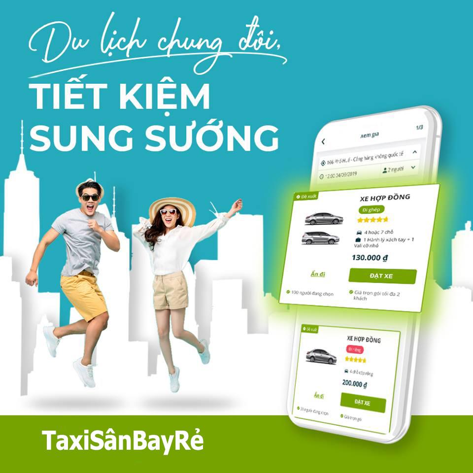 du lịch tiết kiệm cùng Taxi Sân Bay